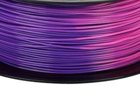 Filamento PLA Color Change - Branco > Roxo 1,75mm 1KG - 3D Tech Filament ®