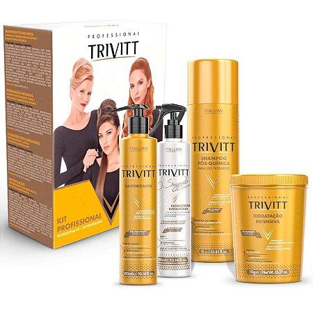 Kit Profissional Trivitt Hidratação Reconstrução e Cauterização