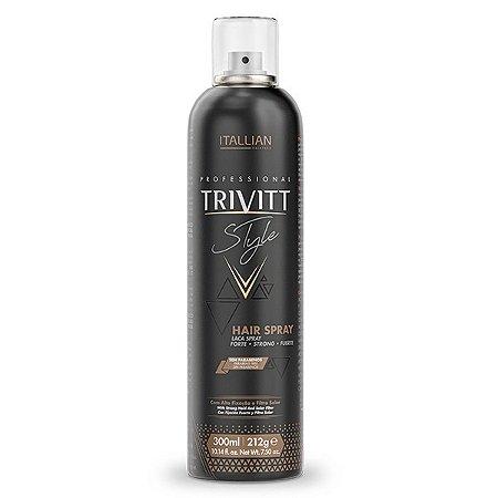 Hair Spray Lacca Forte fixação de penteados Trivitt 300ml
