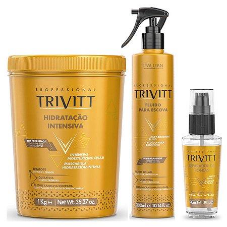Kit Hidratação Trivitt Profissional Máscara De Hidratação Fluido E Reparador