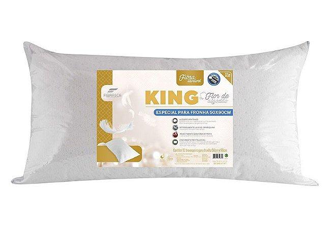 Travesseiro King - Flor de Algodão - 50CMX90CM - Fibrasca