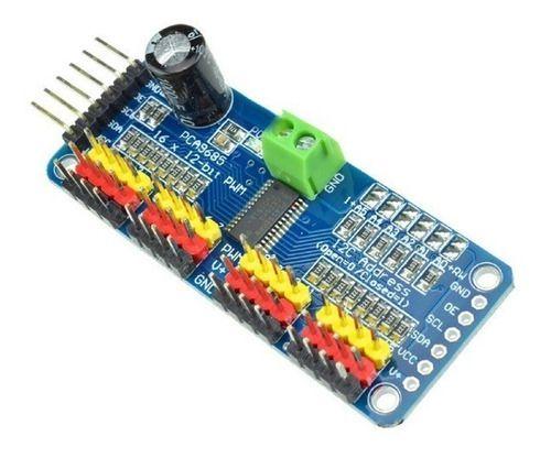 Módulo Driver Servo Pwm Pca9685 I2c 12 Bits De 16 Canais