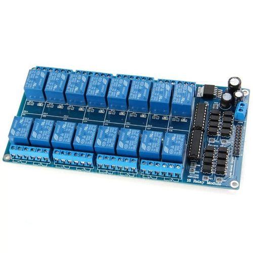 Módulo Relé 16 Canais 5v Com Optoacoplador Arduino