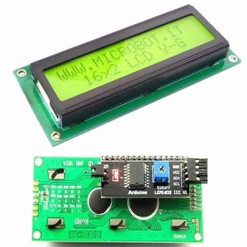 Display Lcd 16x2 1602 Fundo Verde C/ Modulo I2c