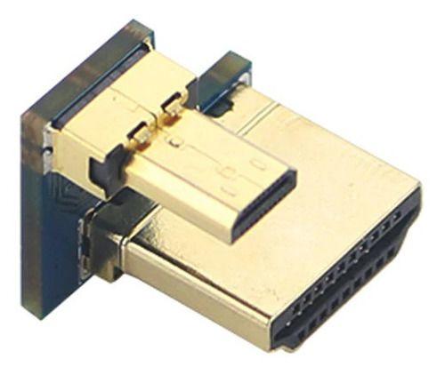 Conector Hdmi Micro Hdmi P/ Tela Lcd 3.5/5 Pol Raspberry Pi