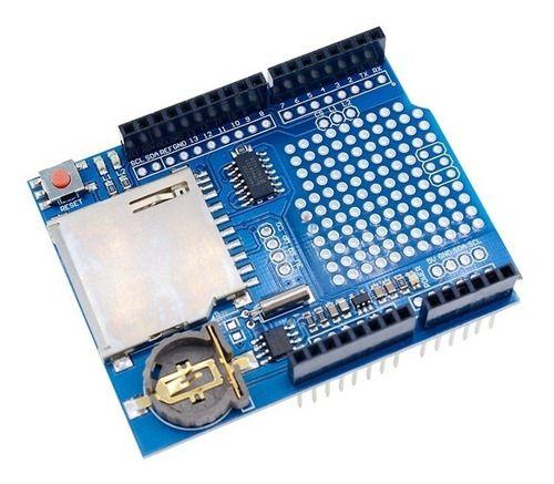 Módulo Shield Data Logger Sd Card S/ Bateria Arduino