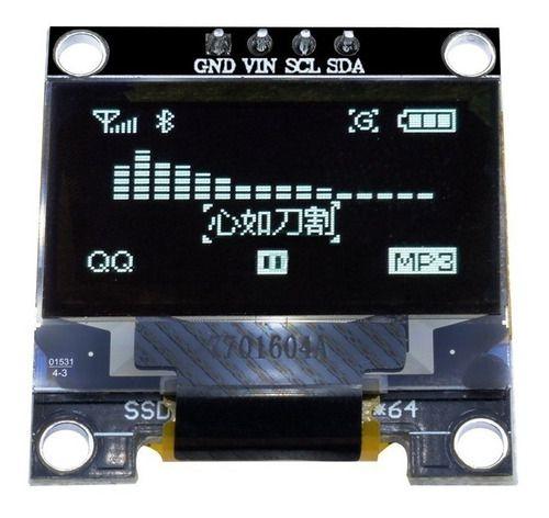 Display Oled Serial 0.96 128x64 I2c Branco Arduino