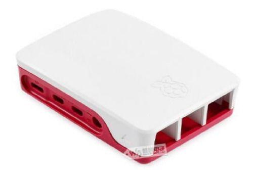 Case Oficial Raspberry Pi4 Vermelha E Branca