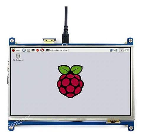 Display 7 Pol Touch Gpio Raspberry 1024x600