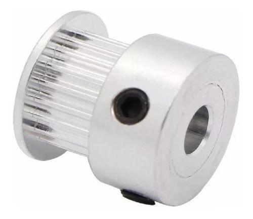 Polia Gt2 20 Dentes Alumínio Furo 5mm Correia 6mm 3d Cnc