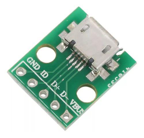 Micro Usb Para Adaptador Dip 5pin Fêmea Conector Tipo B