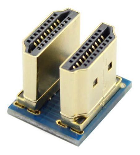Conector Hdmi Duplo P/ Tela Lcd 3.5 Ou 5 Pol Raspberry Pi