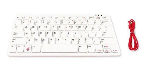 Teclado Oficial Para Raspberry Pi, Vermelha E Branca