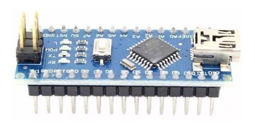 Placa Nano V3.0 Atmega328p Ch340g Pinos Soldado Compatível