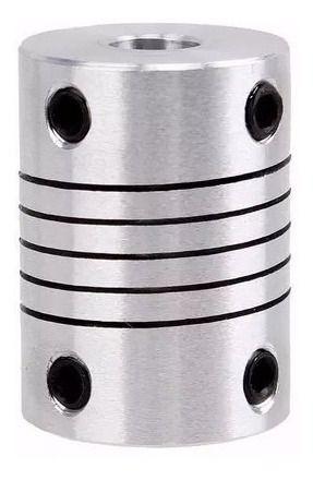 Acoplamento Flexível Eixo 5x5mm 25mm Impressora 3d Cnc
