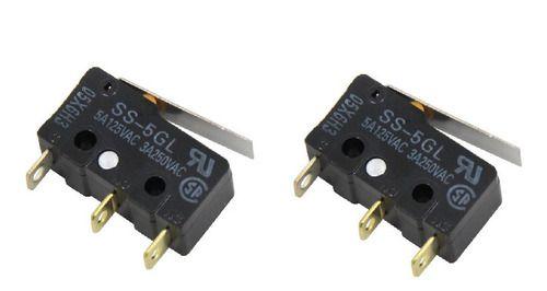 2 Pçs Chave Fim De Curso Impressora 3d Ss-5gl 5a 125v Omron