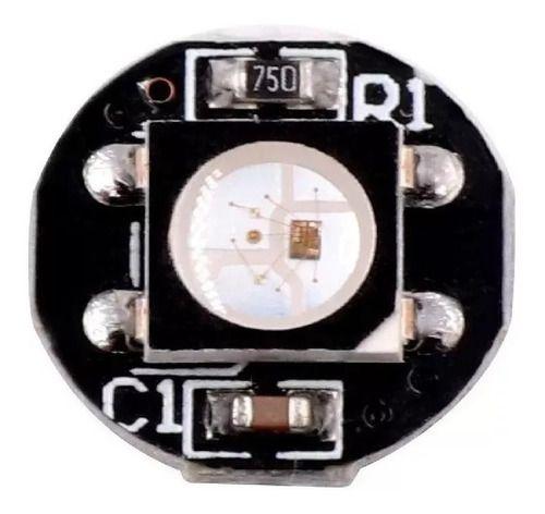 10 Unid Led Rgb Ws2812b 10x3mm Smd 5050 Endereçável - Preto