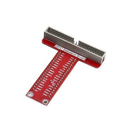 Placa Adapitadora GPIO 40 vias P/ Raspberry Vermelha