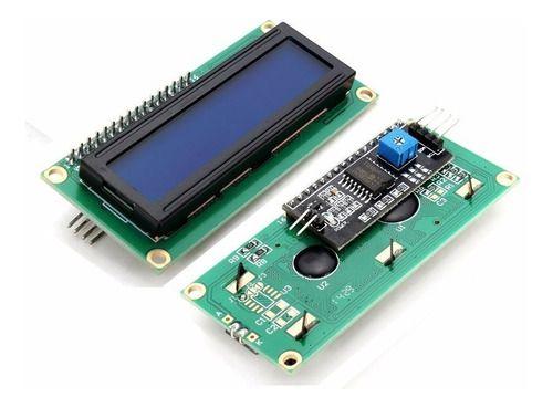 Display Lcd 16x2 1602 Fundo Azul C/ Modulo I2c Arduino