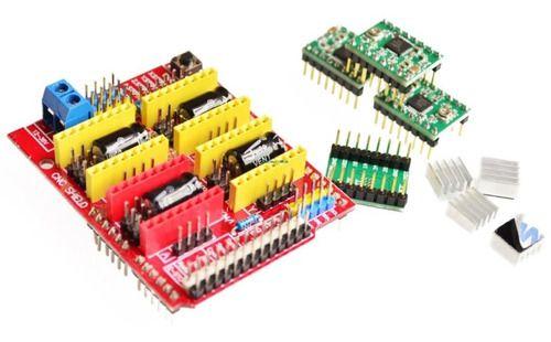 Kit Shield Cnc V3 + 4 Drivers A4988 Arduino