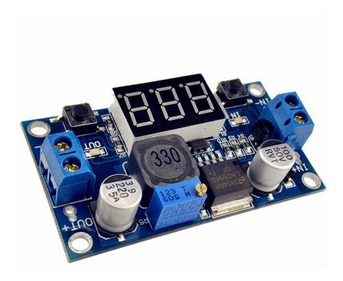 Regulador De Tensão Step-down Lm2596 C/ Voltímetro Arduino