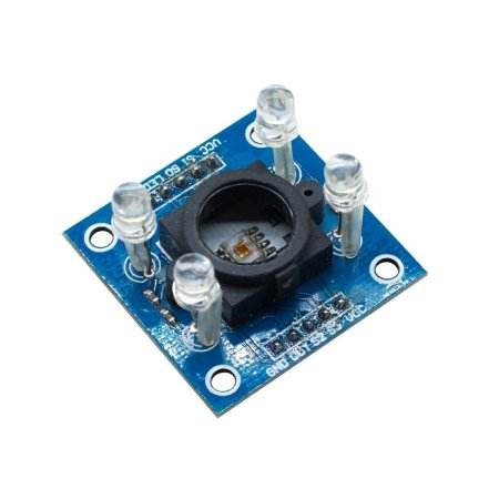 Sensor De Cor Rgb Tcs230 Tcs3200 Placa Azul 10 Pinos