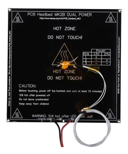 Mesa Aquecida Mk2 200x200 Impressora 3d Preta C/ Fiação