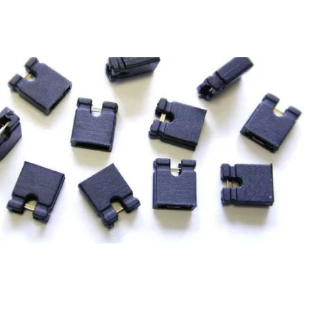 10 Unid Mini Jumpers 2.54 Para Placa Eletrônica