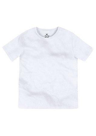 Camiseta Básica Infantil Menino Com Gola Redonda