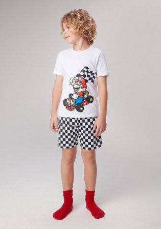 Pijama Curto Infantil Nintendo