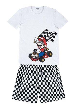 Pijama Curto Adulto Masculino Nintendo