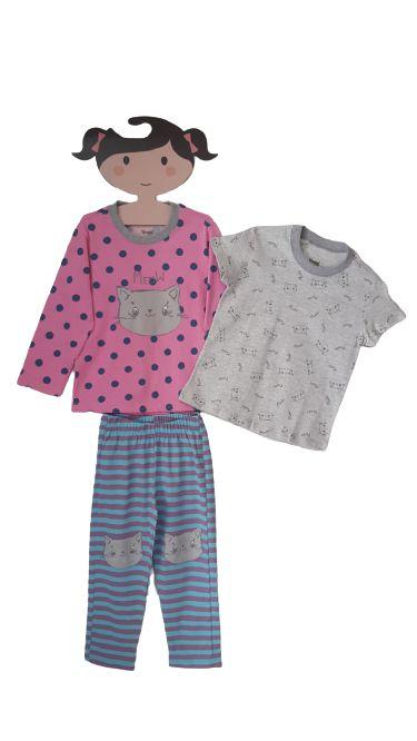 Pijama Triplex Rosa (3 Peças)