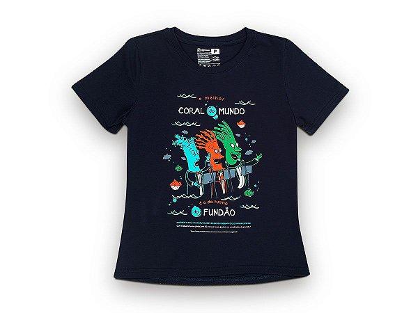 Camiseta Sustentável - Babylook Coral