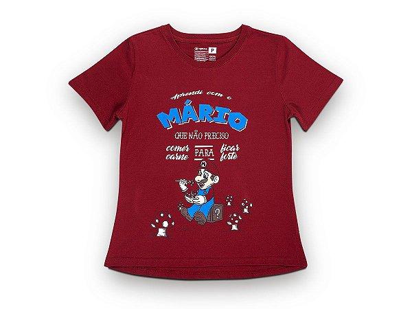 Camiseta Sustentável - Babylook Mário Vegano