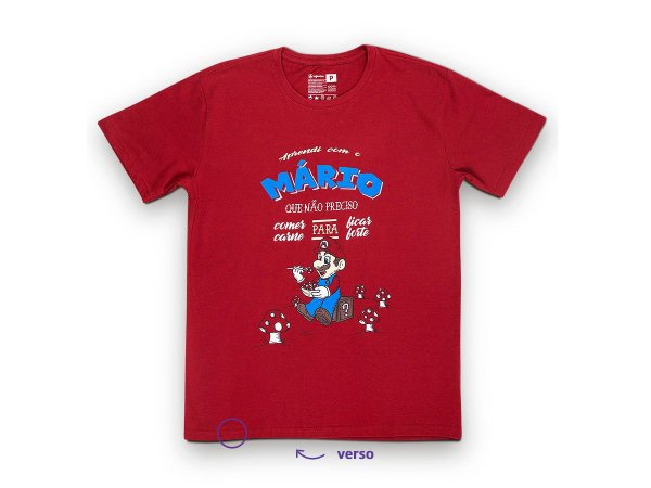 Camiseta Sustentável - Unissex Mario Vegano 01 (BAZAR)