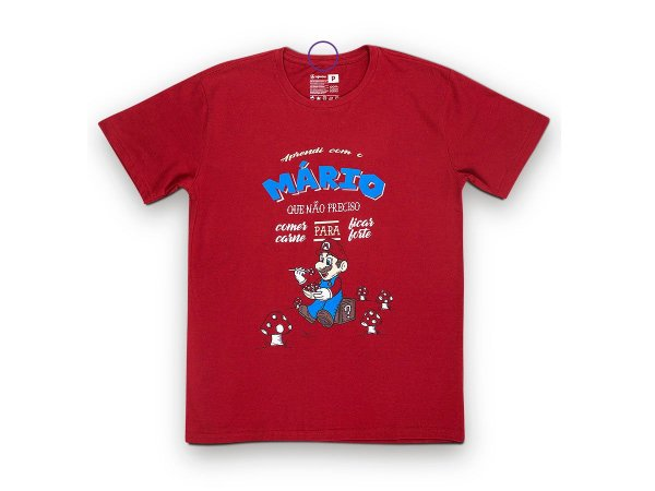 Camiseta Sustentável - Unissex Mario Vegano 02 (BAZAR)