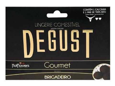 Lingerie Comestível Degust Gourmet - Hot Flowers | Sabor: Brigadeiro