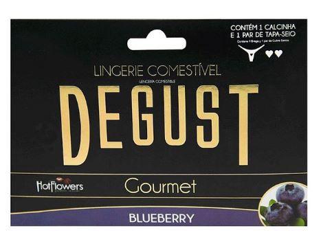 Lingerie Comestível Degust Gourmet - Hot Flowers   Sabor: Blueberry