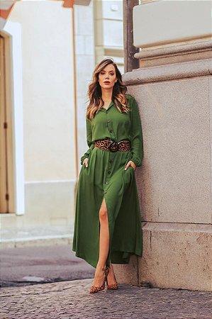 449e81aac14d Vestido chemise longo com manga longa - Je Suis | Moda Feminina