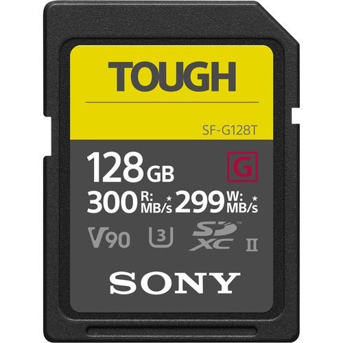 Cartão SDXC Sony 128GB SF-G UHS-II Tough Series
