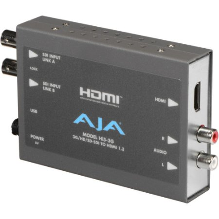 Mini-conversor AJA Hi5-3G 3G / Dual Link / HD / SD-SDI para HDMI