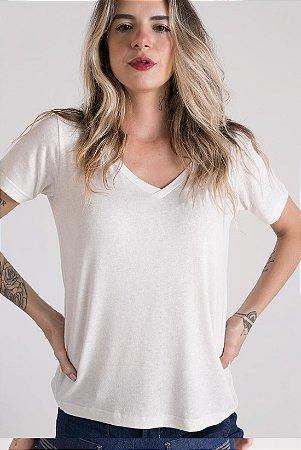 T-Shirt Gola V Branca Viscolinho
