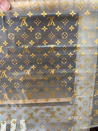 Pelicula Wtp Hidrográfica - Louis Vuitton Dourado- Tam 1m X 50cm
