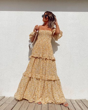Vestido Longo Floral Esmeral