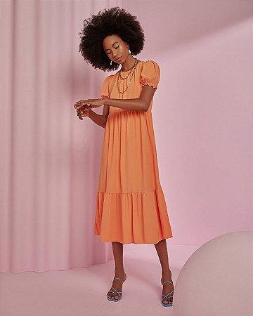 Vestido Breezy Dress Manguinhas Bufantes Esmeral