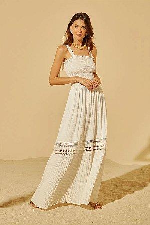 Vestido Longo Off White Renata Le Blog