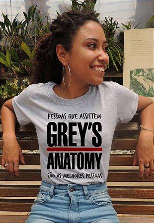 Camiseta Pessoas que assistem Greys Anatomy são as melhores pessoas