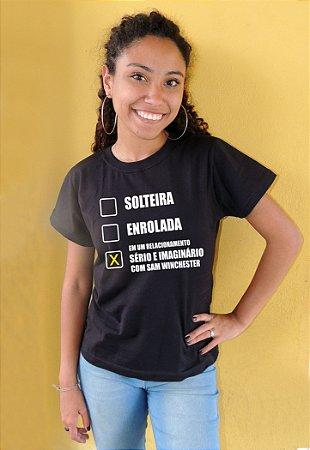 Camiseta Em Um Relacionamento Sério e Imaginário com Sam Winchester Supernatural