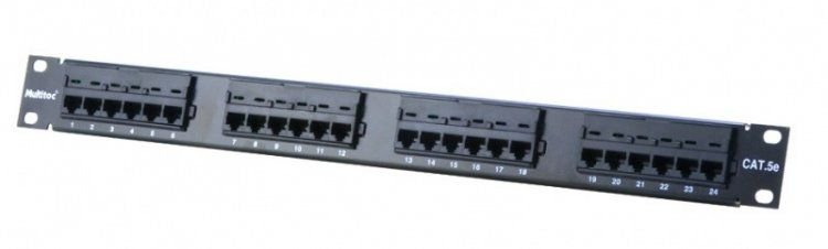 Patch Panel 24 Portas Cat. 5e - Multitoc
