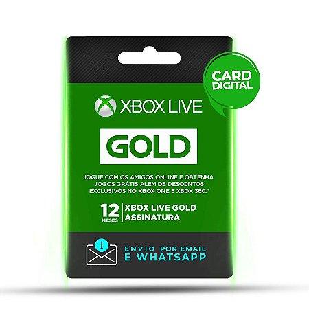 Xbox Live Gold 12 Meses Mídia Digital